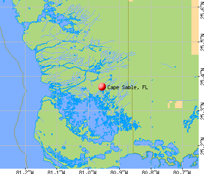 Cape Sable, FL map