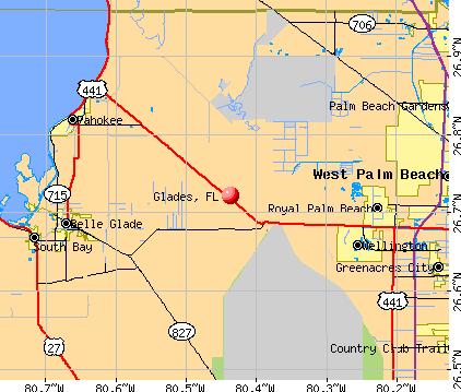 Glades, FL map