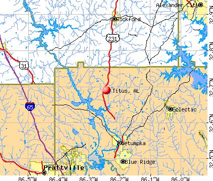 Titus, AL map