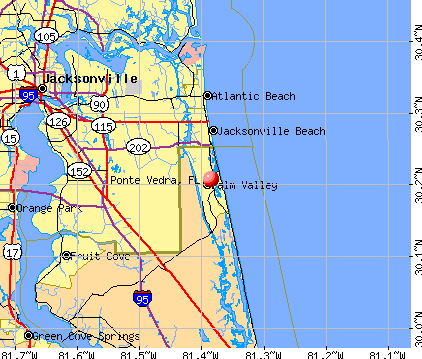 Ponte Vedra, FL map