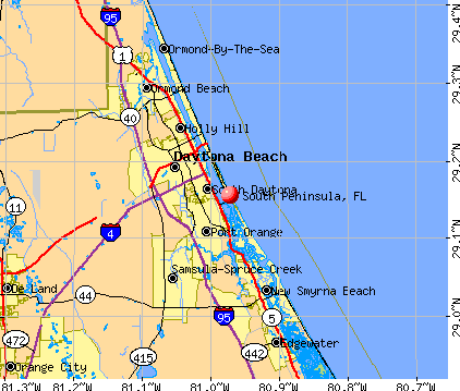 South Peninsula, FL map