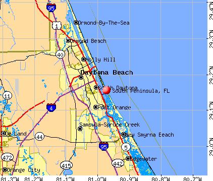 South Peninsula, FL map