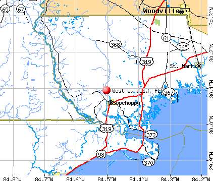 West Wakulla, FL map
