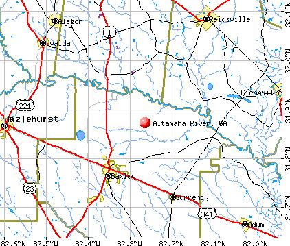 Altamaha River, GA map