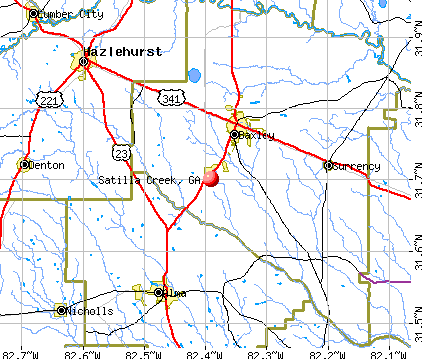 Satilla Creek, GA map