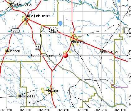Satilla Creek, GA map