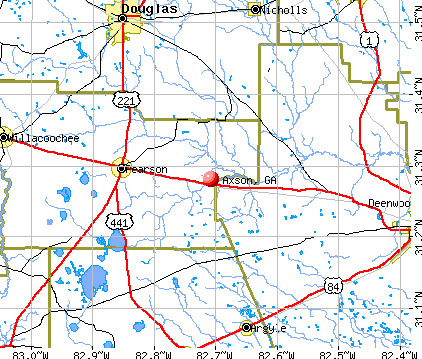 Axson, GA map