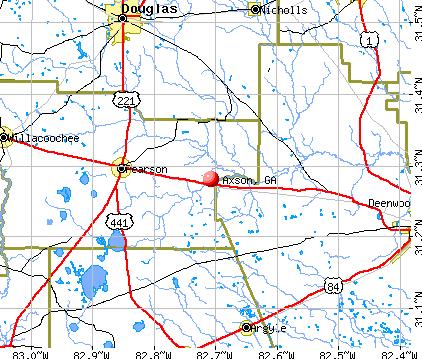Axson, GA map