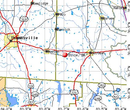 Dixie, GA map