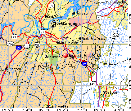 Boynton Ridge, GA map