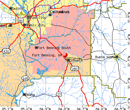 Fort Benning, GA map