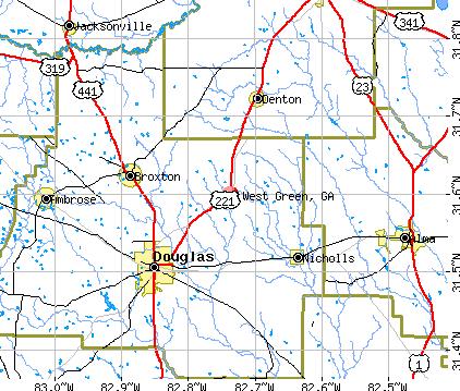 West Green Georgia GA 31533 Profile Population Maps