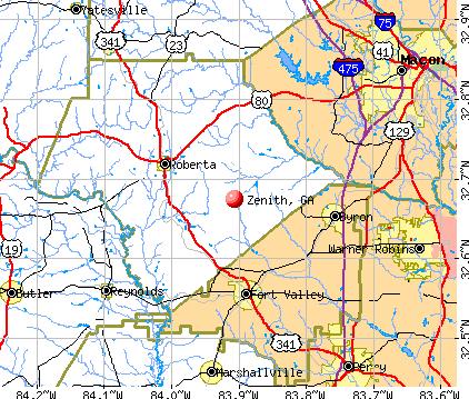 Zenith, GA map