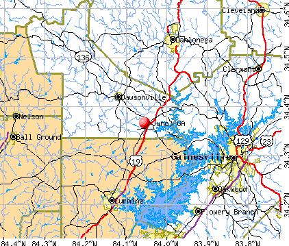 Juno, GA map