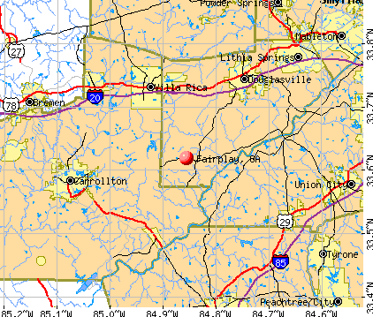 Fairplay, GA map