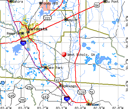 West Echols, GA map