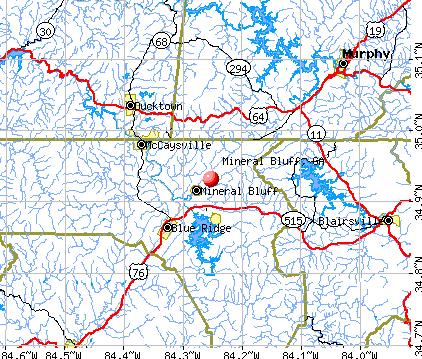 Mineral Bluff, GA map