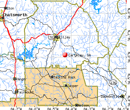 Cartecay, GA map