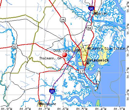 Thalmann, GA map