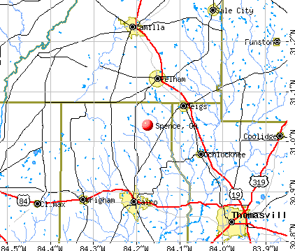 Spence, GA map