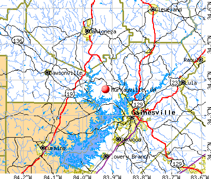 Murrayville, GA map