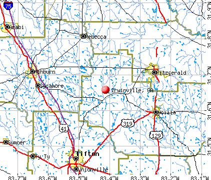 Irwinville, GA map
