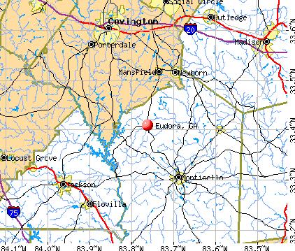 Eudora, GA map