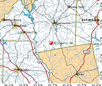 Hillsboro, GA map