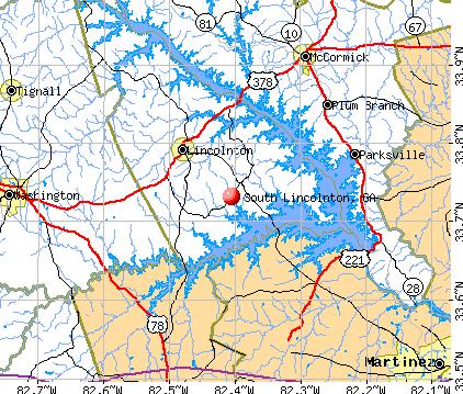 South Lincolnton, GA map