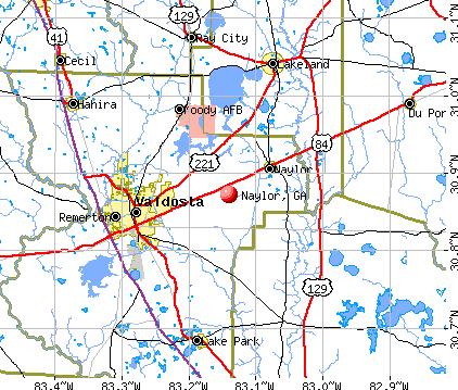 Naylor, GA map