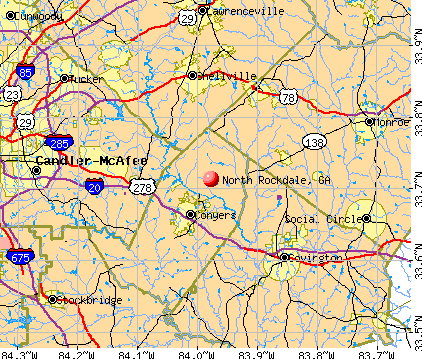 North Rockdale, GA map