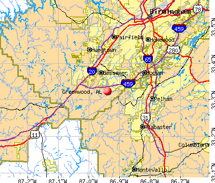 Greenwood, AL map