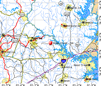 Rock Creek, GA map