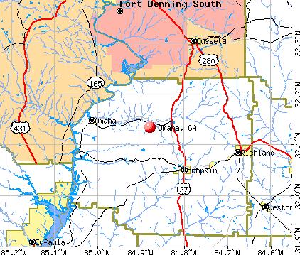 Omaha, GA map