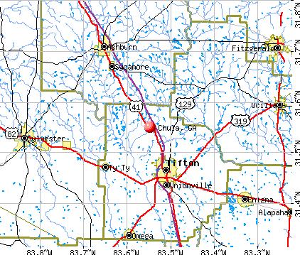 Chula, GA map