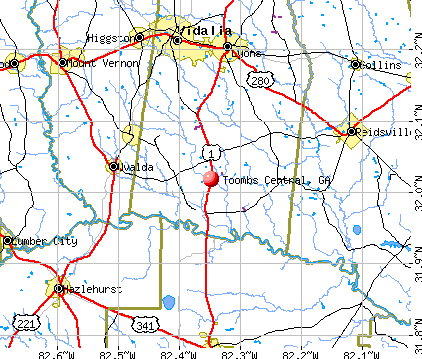 Map Of Georgia Hospitals.Toombs Central Georgia Ga Profile Population Maps Real Estate