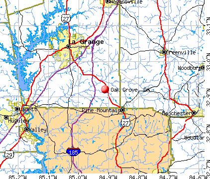 Oak Grove, GA map