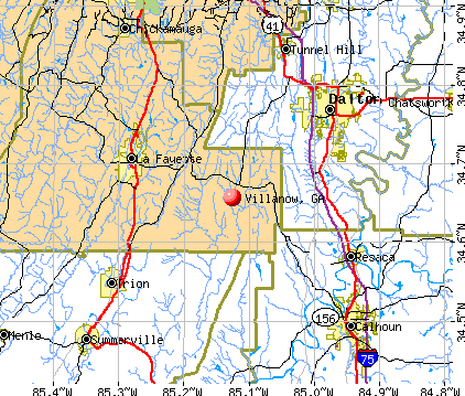 Villanow, GA map