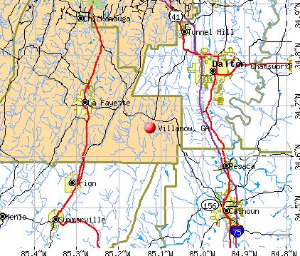 Villanow, GA map