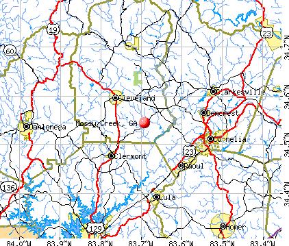 Mossy Creek, GA map