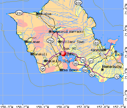 Ewa, HI map