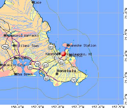 Koolaupoko, HI map
