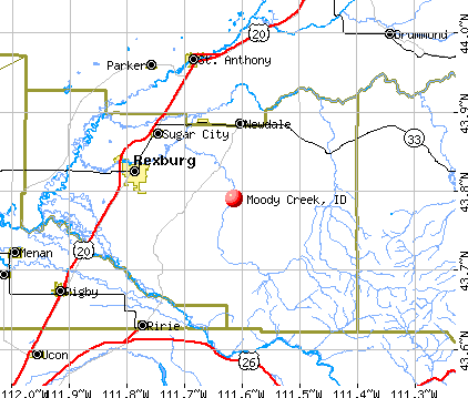 Moody Creek, ID map