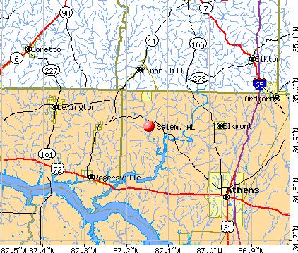Salem, AL map