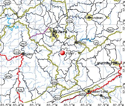 Viper, KY map