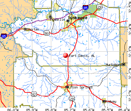 Fort Davis, AL map