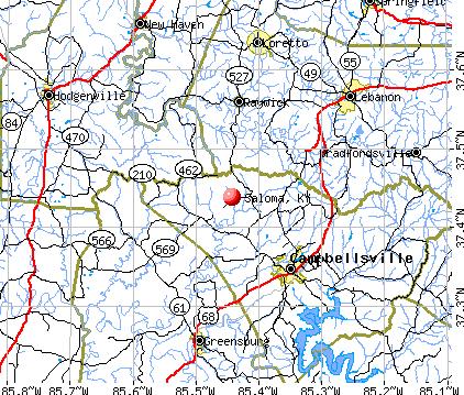 Saloma, KY map