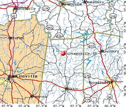 Kirkmansville, KY map