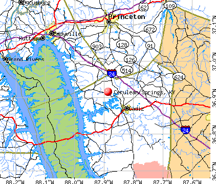 Cerulean Springs, KY map
