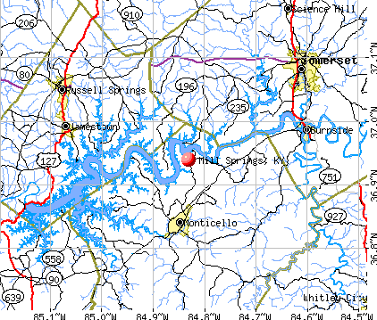 Mill Springs, KY map